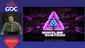 GDC Pitch Day 2 2019 presentation on the Career Development Stage by Neonable founder Gabriel De Roy for Bootleg Systems