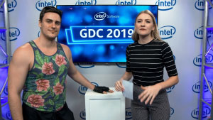 Intel Booth GDC 2019 in San Francisco interview with Neonable founder Gabriel De Roy for Bootleg Systems