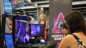 Bootleg Systems at the Neonable booth during Montreal Comiccon 2018