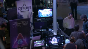 Montreal Dreamhack 2017 Neonable Booth Bootleg Systems