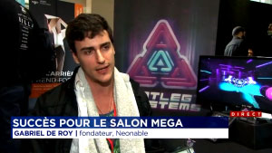 Montreal MEGA 2017 Neonable Booth Bootleg Systems TVA TV Interview with Founder Gabriel De Roy