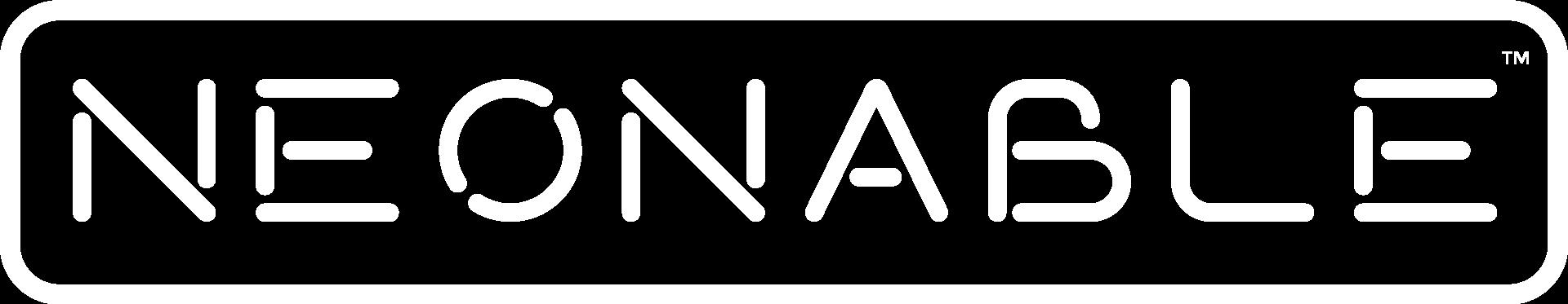 Neonable Logo White