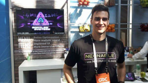 Intel GDC 2017 Juice Bar in San Francisco with Neonable founder Gabriel De Roy